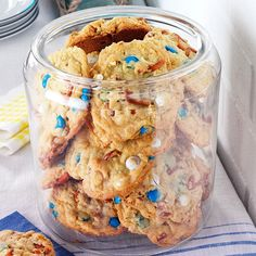 Loaded-Up Pretzel Cookies Recipe -Coconut, M&M's and salty, crunchy pretzels make these loaded cookies unlike any you've ever tasted—or resisted. —Jackie Ruckwardt, Cottage Grove, Oregon