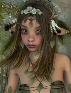 Pabu for Aiko 4 is a character, female, fairies & elves for Victoria 4 and Aiko 4 for Daz Studio or Poser created by -Godin- and Thorne.