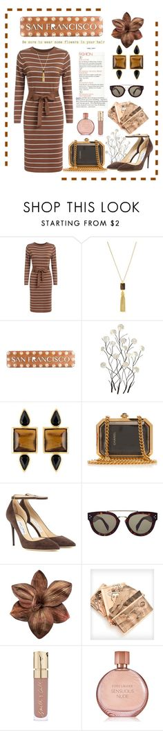 """""""San Francisco"""" by conch-lady ❤ liked on Polyvore featuring Vince Camuto, Dot & Bo, Universal Lighting and Decor, George & Laurel, Chanel, Jimmy Choo, CÉLINE, Smith & Cult and Estée Lauder"""