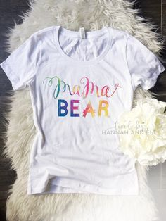 For all of the mommas who had their rainbow baby. The original Rainbow Mama Bear by Loved By Hannah and Eli ❤️