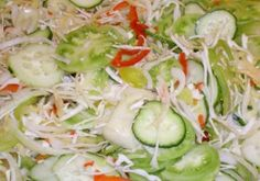 Hungarian Cuisine, Hungarian Recipes, Pickling Cucumbers, Yummy Snacks, No Bake Cake, Salad Recipes, Cabbage, Food And Drink, Cooking Recipes