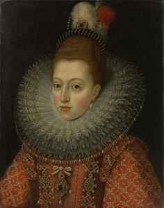 Margaretha van Oostenrijk (1584-1611). Echtgenote van Philips III, atelier van Frans Pourbus (II), ca. 1600