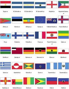 flags of different countries in the world