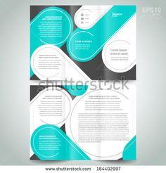 stripes circle line brochure design template