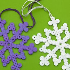 Christmas Decorations Made of Hama or Ikea Beads
