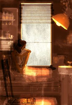 """""""Just one of those day"""" by Pascal Campion Alone Art, Pascal Campion, Illustration Art, Illustrations, One Of Those Days, Artsy Fartsy, Bunt, Amazing Art, Concept Art"""