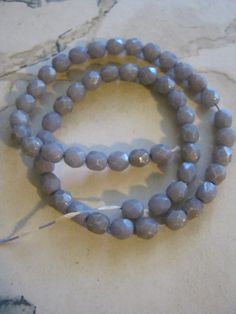 Purple Faceted Glass Beads by janissupplies on Etsy, $7.50