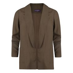 Buy Violeta by Mango Round Lapel Jacket, Light Beige Online at johnlewis.com