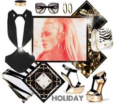 """""""~ Holiday~"""" by ambervogue ❤ liked on Polyvore"""
