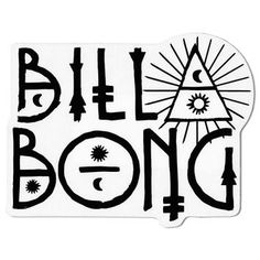Billabong Name and Number Sticker - Surf Brand Stickers