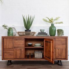 Large Oak Sideboard is made using solid rustic oak that's sustainably sourced. Solid Wooden Sideboard for modern living rooms. Comes with Free UK delivery! Sideboard Decor, Dining Room Sideboard, Large Sideboard, Modern Sideboard, Sideboard Cabinet, Credenza, Large Furniture, Living Furniture, Rustic Furniture