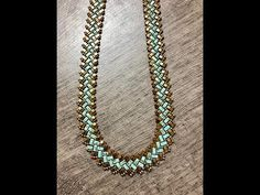 Half A Tila Necklace -Tutorial - YouTube