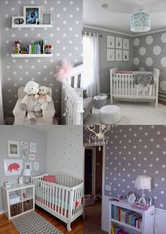 Já pensou em fazer uma parede de bolinhas em casa? Reunimos uma série de referências para te inspirar e dicas de onde comprar os ad... Baby Bedroom, Baby Boy Rooms, Nursery Room, Kids Bedroom, Decorating Toddler Girls Room, Childrens Room Decor, Inspiration Design, Room Inspiration, Polka Dot Nursery