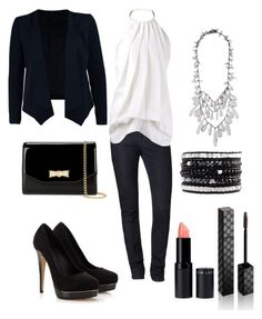 """""""Business Casual"""" by destinee-hogeland ❤ liked on Polyvore featuring SELECTED, Calvin Klein, Victoria Beckham, Lipsy, Ted Baker, Gucci, Chan Luu, Prada, stylish and BusinessCasual"""