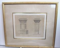 Abstract geometry architecture photograph framed fine office henry ii renaissance era france chateau danet architecture blueprint framed artwall malvernweather Gallery