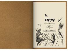 """koichialtair: """" 1979 Club Restaurant Identity, Paris Ier. By Floz """""""