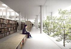 jaja architects - Between Books and Trees