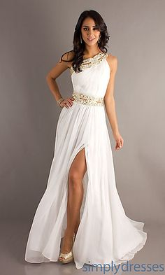 One Shoulder Grecian Gown for Prom by Bari Jay ($280)