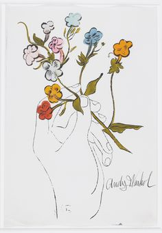 Andy Warhol early work. i would love flowers like this