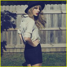 She totally rocks that outfit especially with that hat