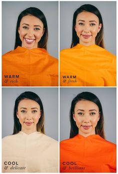 Best Orange for Warm Skin, Dark Hair & Eyes