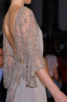 Elie Saab Fall 2012 Couture jean dress#2dayslook #kathyna257892#jeansfashion ww.2dayslook.com
