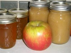 Making homemade apple jelly and apple sauce.