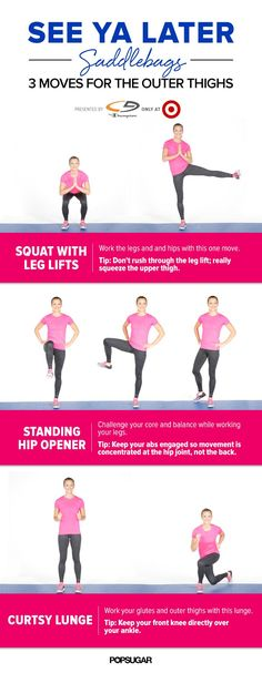 Work the upper thighs with this 5-minute workouts. Even the cardio moves works the outer thighs!