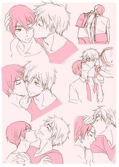 Kisses ... Free! - Iwatobi Swim Club, free!, iwatobi, makoto tachibana, makoto, tachibana, haruka nanase, haru nanase, haru, haruka, nanase