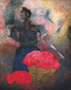 Rufino Tamayo, 1899-1991. Homenaje a la raza India, 1952,  Palacio de Bellas Artes,  Mexico City,  500 x 400 cm (4 panneaux de 250 x 200 cm)