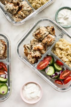 Greek grilled chicken meal prep bowl