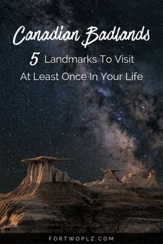 Going on a road trip to Canadian Badlands this summer! Then you must visit these breathtaking attractions and historical landmarks. Click through to find out more on For Two, Please now. Ottawa, Canadian Travel, Canadian Rockies, Alberta Canada, Banff, Canada Winter, Canada Canada, Canada Trip, Canada Goose