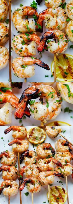Garlic Butter Shrimp Kebab – juicy, succulent and perfectly grilled shrimp kebab with garlic butter and lemon juice. A guaranteed crowd pleaser | rasamalaysia.com