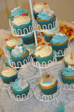 Kitchen theme bridal shower cupcakes