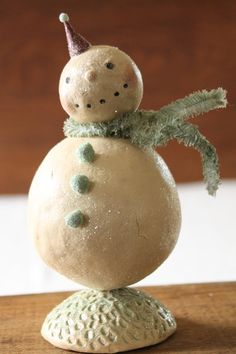 Christmas Holiday Folk Art Snowman