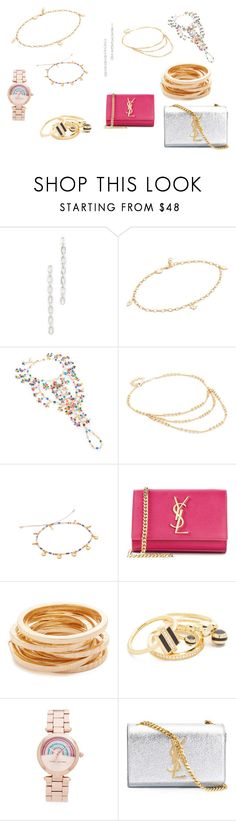 """""""jewellery collection sale"""" by monica022 ❤ liked on Polyvore featuring Noir Jewelry, Jennifer Zeuner, Rosantica, Jacquie Aiche, Chan Luu, Yves Saint Laurent, Kenneth Jay Lane, Marc Jacobs and vintage"""