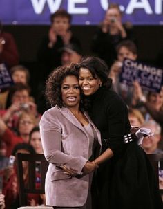 Hugging Oprah. | 20 Photos Of Michelle Obama Doing Things With Celebrities