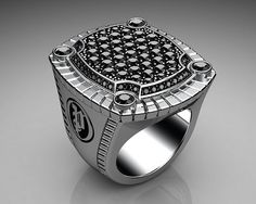 Unique Mens Ring Paved Signet Ring Sterling Silver with Black Diamonds By Proclamation Jewelry by ProclamationJewelry, via Flickr