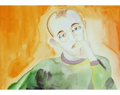 FRANCESCO CLEMENTE   PORTRAITS Keith Haring  1982-1987  Watercolor on paper  14 x 20 in