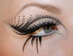 very detail eyeliner.