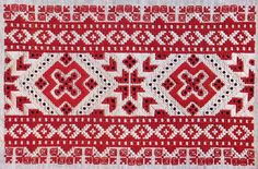 Embroidery from village Čičmany, Považie region, Western Slovakia.