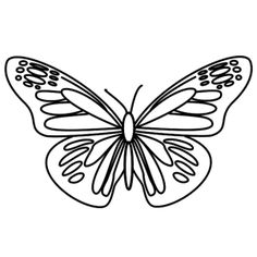 how to draw a cartoon butterfly step by step