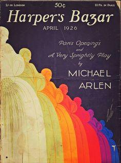 Harper's Bazaar cover by Erté, 1926 Art Nouveau, Fashion Magazine Cover, Magazine Covers, Erte Art, Romain De Tirtoff, Vintage Graphic Design, Graphic Art, Yearbook Design, Tinkerbell