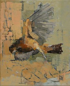 """Still Life with Bird"" by Jill Barthorpe (UK,) Oil."