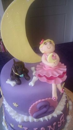 Girl and dog toppers