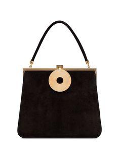 Dorateymur Black Monologue Suede Leather Tote Bag