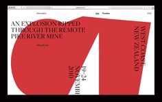 Pike River, on siteInspire: a showcase of the best web design inspiration. Page Eight, Page Three, Nuclear Test, New West, Its Nice That, Best Web Design, Web Layout, Web Design Inspiration, Booklet