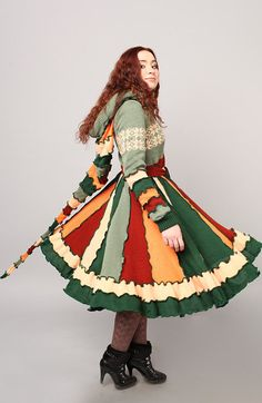 Hey, I found this really awesome Etsy listing at https://www.etsy.com/listing/151149770/patchwork-coat-the-green-of-spring