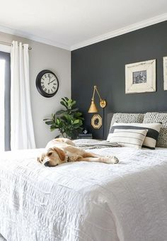 Farmhouse Master Bedroom Makeover Ideas ✓ - Page 5 of 59 - Best Home Decor Farmhouse Style Bedrooms, Farmhouse Master Bedroom, Master Bedroom Makeover, Gray Bedroom, Master Bedroom Design, Bedroom Colors, Modern Bedroom, Modern Farmhouse, Farmhouse Decor