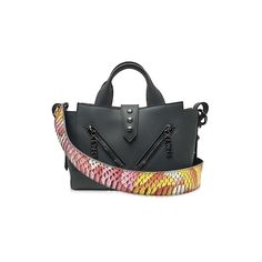 Kenzo Handbags Mini Kalifornia Gray Leather Handbag (2,295 SAR) ❤ liked on Polyvore featuring bags, handbags, shoulder bags, grey, genuine leather handbags, leather shoulder handbags, leather handbags, leather purses and purse shoulder bag